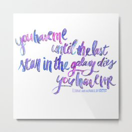 "illuminae ""you have me"" watercolor w/white background Metal Print"