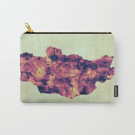 Mongolia Map with Flag Carry-All Pouch