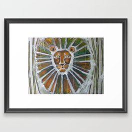 cage-free lion Framed Art Print