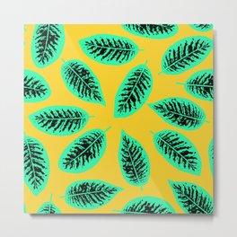 Dieffenbachia tropical leaf pattern Metal Print