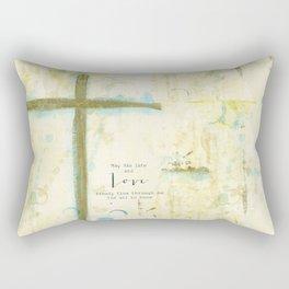 Let His Love Freely Flow Rectangular Pillow