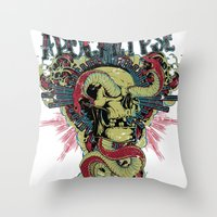 apocalypse now Throw Pillows featuring Apocalypse now by Tshirt-Factory