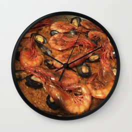 Shrimp Mussel Rice Wall Clock