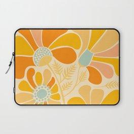 Sunny Flowers / Floral Illustration Laptop Sleeve