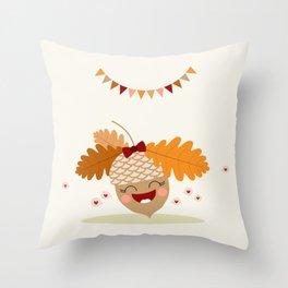 Gland orange Throw Pillow