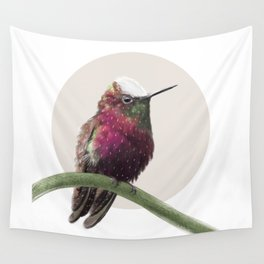 Snow Capped Hummingbird Wall Tapestry