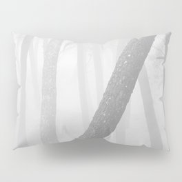 Inclined... Into the foggy woods Pillow Sham