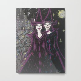 the witch and wizard Metal Print
