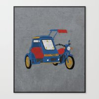 philippines Canvas Prints featuring Philippines - Tricycle by PyroNipo