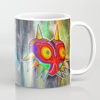 majora Mugs featuring Majora mask by Lyxy