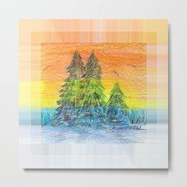 Prism Sunset Metal Print
