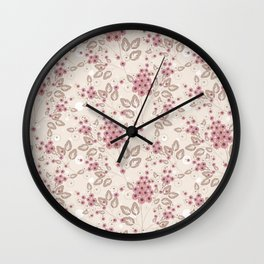 Delicate floral pattern. Wall Clock