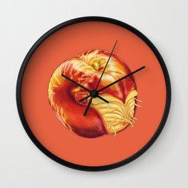 Nn - Nautirine // Half Nautilus, Half Nectarine Wall Clock