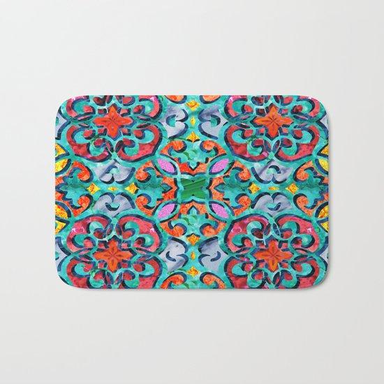 Moroccan Mandala Tile 01 Bath Mat