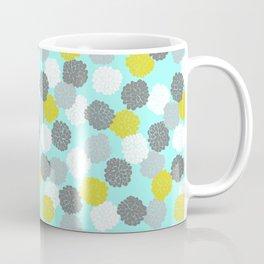 Block Printed Floral Coffee Mug