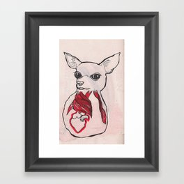 Inside Out Chihuahua Framed Art Print