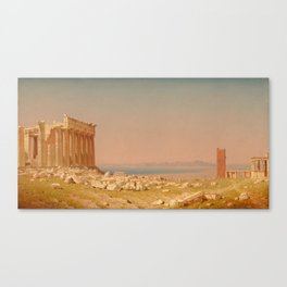 Ruins of the Parthenon Oil Painting by Sanford Robinson Gifford Canvas Print