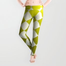 yellow checkers Leggings