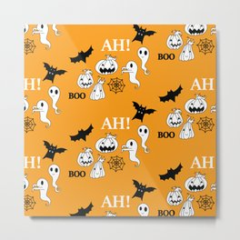 Pattern Halloween 1 Metal Print