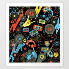 rawk n roll Art Print