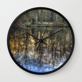 A Pond Of Refections Wall Clock