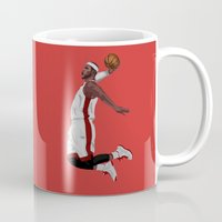 lebron Mugs featuring Lebron James by siddick49