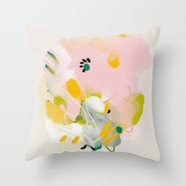 floral abstract spring bouquet 2 Throw Pillow