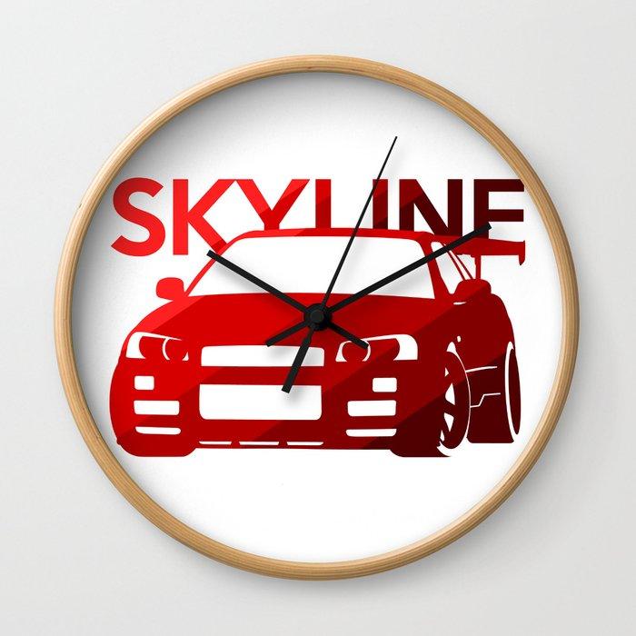 Nissan Skyline GT-R  - classic red - Wall Clock