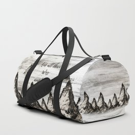 Not All Those Who Wander Are Lost-Matterhorn Swiss Alps-Typography Duffle Bag
