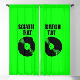 scratch that music logo Blackout Curtain