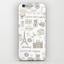 I {❤} Travel iPhone Skin