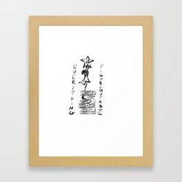 Everything is figureoutable Framed Art Print