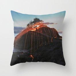 Night sky on fire Throw Pillow