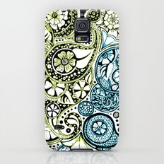 Blue Lime Paisley Galaxy S5 Slim Case