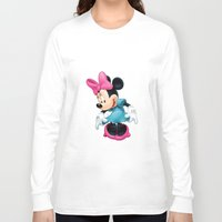 minnie mouse Long Sleeve T-shirts featuring Minnie Mouse Cartoon by Maxvision