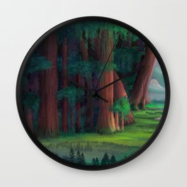 The Ancient Forest Wall Clock