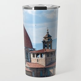 Aerial view of Medici Chapels dome - Florence Travel Mug