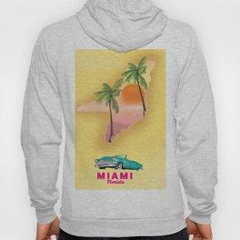 Miami Florida Vacation poster. Hoody