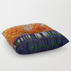 Fall Leaves On Plaid Floor Pillow