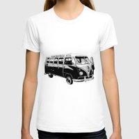 volkswagen T-shirts featuring Volkswagen Bus by Michael Blaze