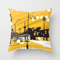 Toronto Snow! Throw Pillow