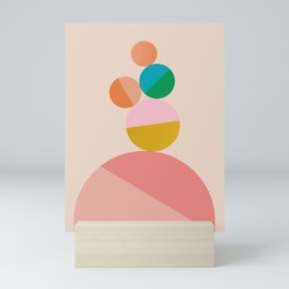 Abstraction_Balance_Colorful_Minimalism_001 Mini Art Print