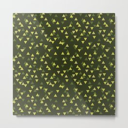 Triangles of Moss (Small) Metal Print
