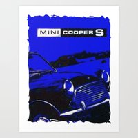 mini cooper Art Prints featuring Mini Cooper 2 by elkart51