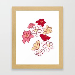 Poinsettia - 4 colors Framed Art Print