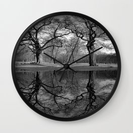 Black White Coast Lake Landscape Lake House Art Coastal Art A291 Wall Clock