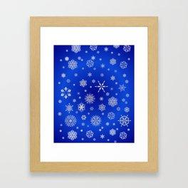 Snow in the Winter Night Framed Art Print