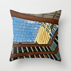 Modern office building in Hamburg Throw Pillow