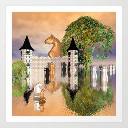fantasy chessworld Art Print