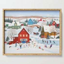Snow Family Serving Tray